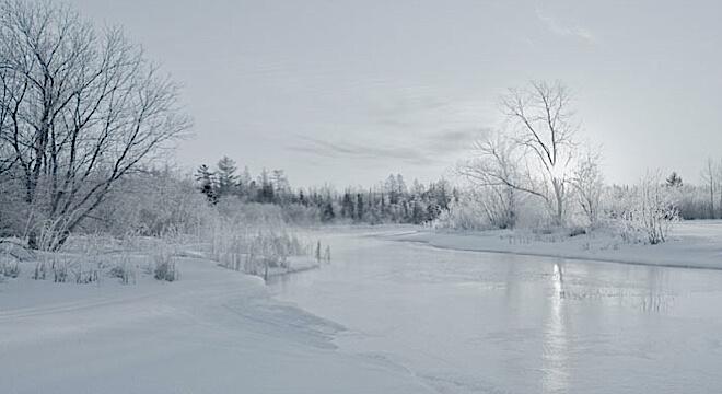 Cedar River winter fader