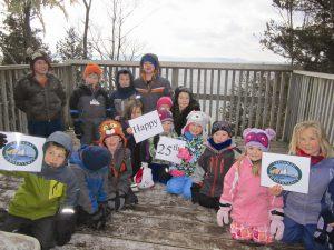 Leelanau Montessori Kindergartners at Whaleback Jan 2013