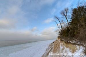 Ken Scott Clay Cliffs cliff edge in winter two horizontal20130124_7560hen