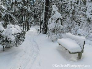 Ken Scott Kehl Lake winter bench 20130202_3824