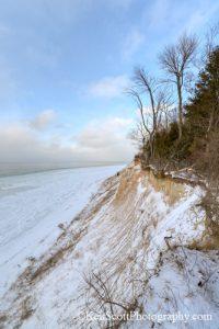 Ken Scott Clay Cliffs cliff edge in winter vertical20130124_7557hen