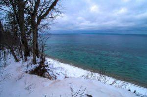 web Karl Hausler Clay Cliffs Lake Michigan view Dec 27 2013 walk