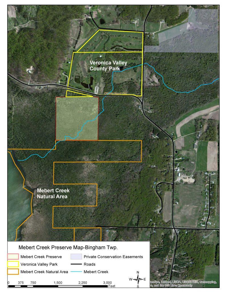 Mebert Creek Preserve Area Map