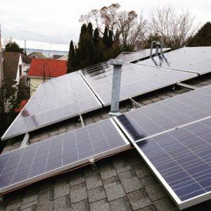 Rooftop shot of panels smaller