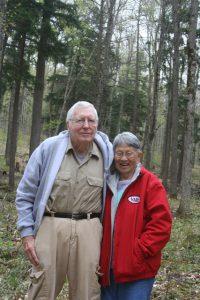 Dr. Dan and Helen Palmer at Palmer Woods.