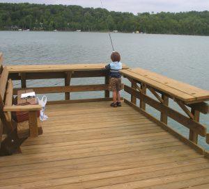 DeYoung Fishing Pier casey fishing cropped